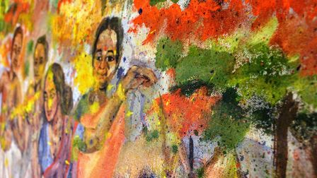 A close-up one of the paintings. Picture: Mukta Chakravarty