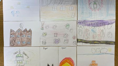 Posters drawn by the pupils, who grilled the MP during his visit to the school last week. Picture: Sam Tarry