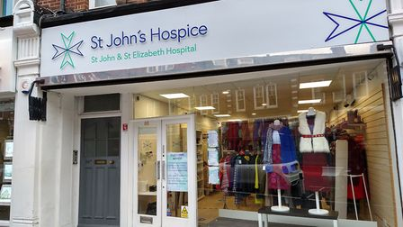 The St John's Hospice charity shop in St John's Wood High Street has now reopened. Picture: St John's Hospice