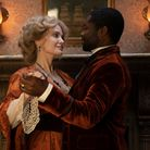 Angelina Jolie as Rose Littleton dances with David Oyelowo as Jack Littleton in Come Away