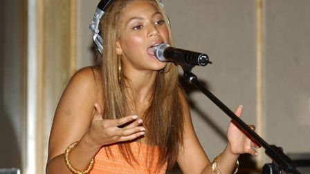 Beyonce during rehearsals for a Radio 1 performance at Maida Vale Studios