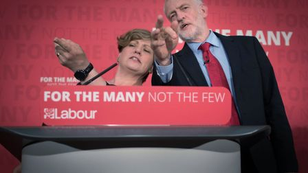 Labour leader Jeremy Corbyn and shadow foreign secretary Emily Thornberry. Photograph: Stefan Rousse