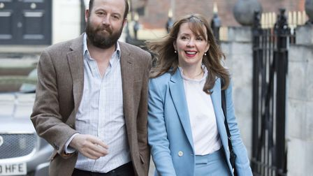 Theresa May's former chief of staff Nick Timothy and joint-chief of staff Fiona Hill after the 2017