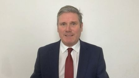 Labour leader Sir Keir Starmer speaks via videolink during Prime Minister's Questions in the House o