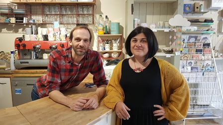 Tim Smith and Karen Dunn, owners of Creative Biscuit ceramic cafe have started a takeaway home deliv