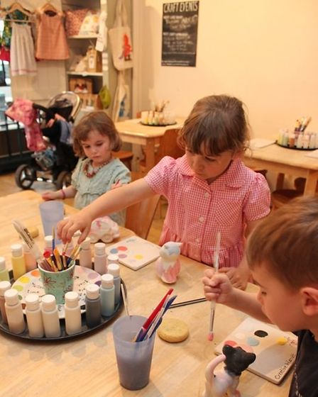 Some parents have started doing painting birthday parties over Zoom through the pandemic. Picture: K