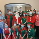 Staff and residents at Oaklands House care home in Reydon, near Southwold, embarked on some festive fundraising for a...