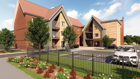 A CGI of the proposed care home for Westerfield Road/Kettlebaston Way.