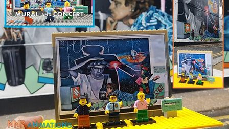 Nikhil Patel has made a Lego animation based on the George Michael mural in Kingsbury.