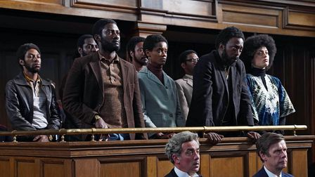 A still from the BBC's Small Axe episode about the trial of the Mangrove 9
