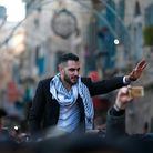 Yacoub Shaheen is greeted by crowds in his hometown of Bethlehem after winning Arab Idol in 2017