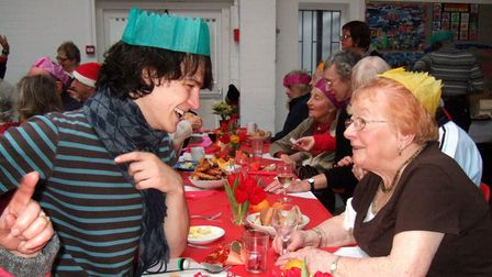 A previous Christmas Day celebration at Hampstead Community Centre