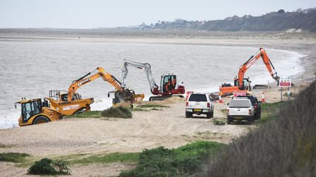 The Pakefield coast temporary protection works.