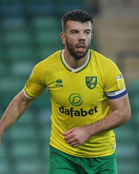Grant Hanley of Norwich in action during the Sky Bet Championship match at Carrow Road, NorwichPic