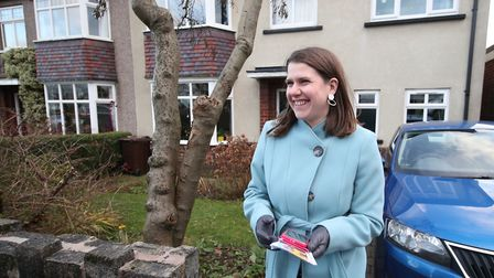 Liberal Democrat Leader Jo Swinson canvassing door to door during a visit to Sheffield, while on the