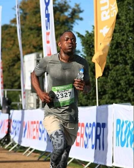 Melvyn Williams running in a long-distance race