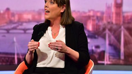 Labour MP Jess Phillips appearing on The Andrew Marr Show. Photograph: Jeff Overs/BBC/PA Wire .