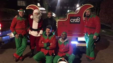 The Christmas team from Hornsey Round Table