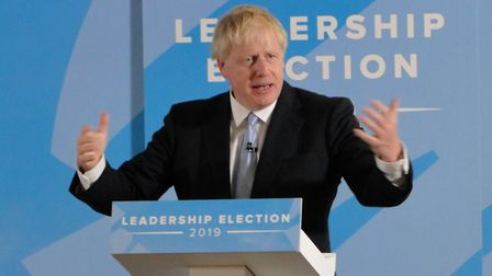 Boris Johnson speaks during the Conservative leadership hustings at Exeter on Friday, June 28. Pictu