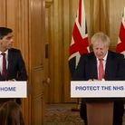 A screen-grab of Prime Minister Boris Johnson and Chancellor Rishi Sunak speaking in Downing Street