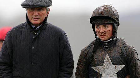 Trainer Jimmy Frost with his jockey daughter Bryony Picture: Cameron Geran/PPAUK