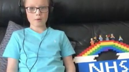 One pupil with his Lego tribute
