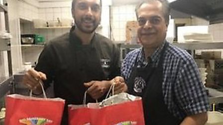 Rehan Uddin and his father Nizam Uddin, of the Bombay Express inTorquay, who served up a treat for 4