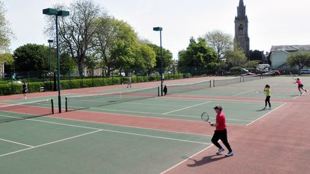 Tennis at Cary Park in Babbacombe