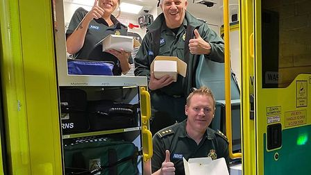 Frontline NHS workers in Torbay enjoy a Ben's Bakes treat