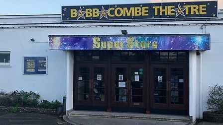 In darkness - the Babbacombe Theatre