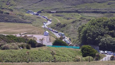 Traffic jamming the roads at Woolacombe. Picture: Richard Walden