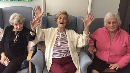 Residents enjoying life at the Grange-Lea care home