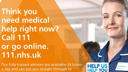 If you have need urgent advice and aren't sure where to go, visit 111 online or phone 111