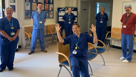 Staff at the oral surgery emergency hub without their PPE