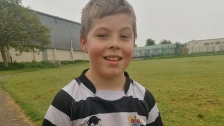 Thomas is running his daily mile around the Acorn Centre field in Torquay