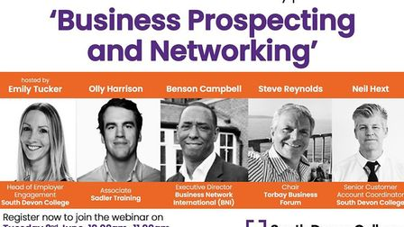 South Devon College's webinar titled 'Business Prospecting and Networking'
