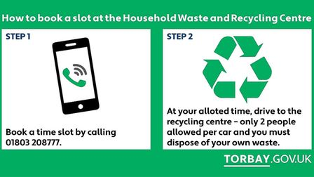 Changes to the booking system for Torbay's recycling centre
