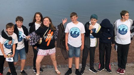 Members of Ocean Youth at Paignton seafront