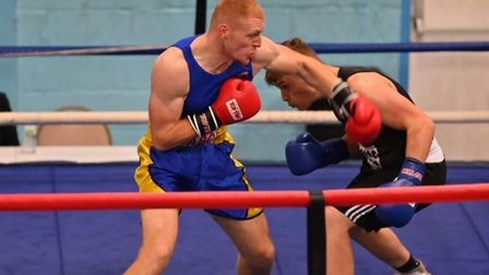 Boxer Ben Andrews in the ring