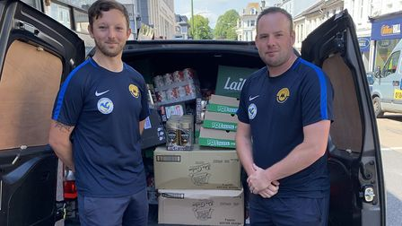 Torquay United Community Sports Trust delivering food for RE4orm