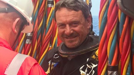 Deep sea diver Andy Pybus who has died suddenly