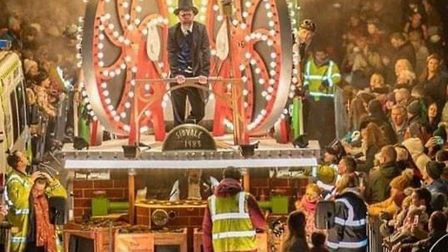 The floats the Torquay Christmas Carnival have attracted in the past included this one from the Sid