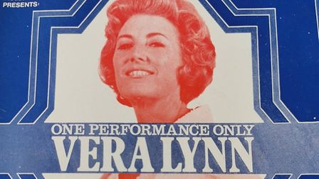 The programme from the Dame Vera Lynn show at the Princess Theatre inTorquay