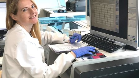Laura Mackay, a member of the research and development team in Torbay