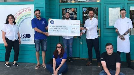 The Rockfsh Restaurant and their donation to the Torbay holidays charity