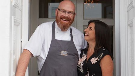 Chef Simon Hulstone and his wife Katy