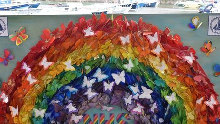 The artwork produced by children at Furzeham primary in Brixham