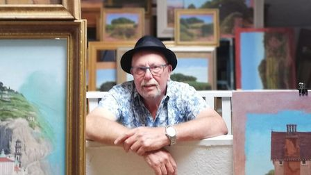Artist Fred Gray from Chelston, Torquay