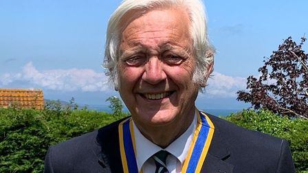 Outgoing president Sir Jeremy Hanley