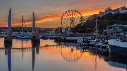 Torquay harbour at sunset - our tourism and hospitality sectors need support